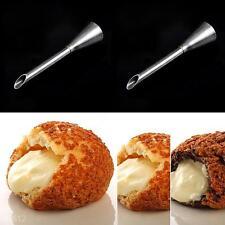 Stainless Steel Icing Piping Nozzle Cake DIY Tool Puff Cupcake Doughnut Filler