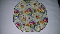 """Vintage Lord Nelson Ware Chintz China ROSE TIME Salad Dessert Plate 6 5/8"""" No2"""