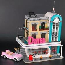 New Genuine 2778Pcs Streetview Series The Downtown Diner Set Building Blocks Toy