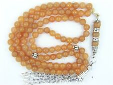 6mm x 99 RED / ORANGE AVENTURINE ISLAMIC PRAYER BEADS TASBIH MASBAHA GIFT