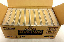 Box of 10 New Fuji DVCPRO DP121 33M Digital Video Cassettes