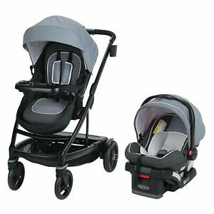 Graco UNO2DUO 2032495 Baby Stroller Travel System, Hazel (Pink Lining) *New