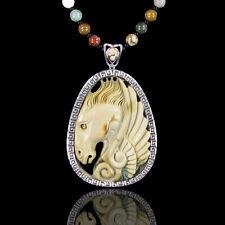 Carved Succor Creek Jasper Pegasus Necklace DD306020