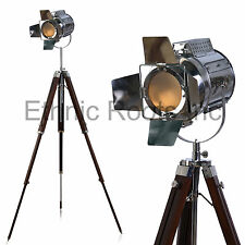 Designer Look Vintage Design Proiettore Faretto Lampada da terra treppiede telescopico
