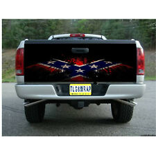 T69 FLAG EAGLE Tailgate Wrap Vinyl Graphic Decal Sticker LAMINATED