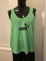 Puma Sportlife Men's Training Green Mesh Vest - XL