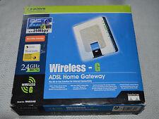 NOS BOXED LINKSYS CISCO WIRELESS-G ADSL2+ WAG354G -  UK SELLER