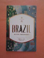 STARBUCKS 2015 - Series Reserve Tasting Card BRAZIL NOVA RESENDE - NEW