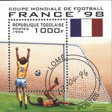 Togo Bloque 392 (edición completa) usado 1996 Fútbol-WM ´98, Francia