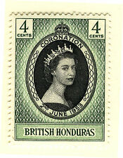 BRITISH HONDURAS 1953 CORONATION BLOCK OF 4 MNH