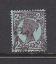 Qld: 1897-1911 4Th Sideface Qv 2 1/2d Brown Purple On Blue Sg238