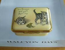 "Halcyon Days Kittens & Frog Colin Woolf Enamel Box - >1 7/8""(<5cms)"