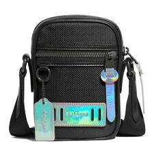 NWT COACH Terrain Crossbody Phone Bag Fabric Black Cyber Antique Nickel F89176