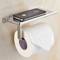 Bathroom Paper Phone Holder Shelf Stainless Steel Toilet Paper Holder Wall Mount