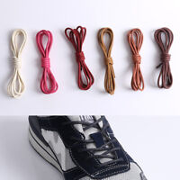 1Pair Waxed Shoelaces Round Thin 2.5mm Dress Wax Cord Shoe Laces Brogues Shoes