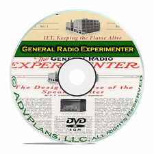 General Radio Experimenter Manuals 490 Book Collection Classic Radio CD DVD B62