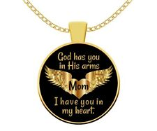 In Memory of Mom Memorial Necklace Jewelry - Bereavement Angel Gift Loss Mother