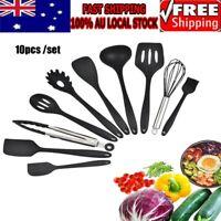10Pcs/set Silicone Kitchen Utensils Set Nonstick Cooking Gadget Tool
