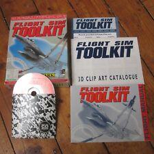 Flight Sim Toolkit Tool Kit Windows + DOS CD ROM Big Box Game Complete Domark