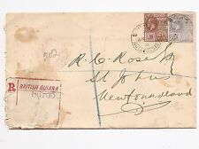 British Honduras 1925 KGV 2c x 2 on cover to USA (bao)