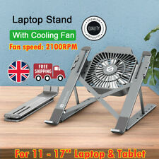 Laptop Stand Holder With Cooling Fan Portable Foldable Aluminum Notebook Holder