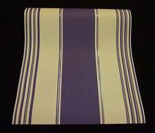 """9699-09-2) Vinyltapete """"Kingly Fashion"""" Streifen - Design Tapetecreme und lila"""