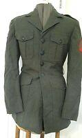 VTG. USMC Marine Corps military Jacket serge green Size 37 R Vietnam War Era