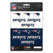 New NFL New England Patriots Die-Cut Premium Vinyl Mini Decal / Sticker Pack