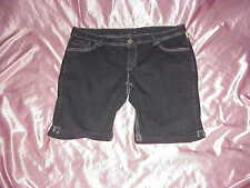 NWOT Women's ARIYA Blue/Gray Flap Pocket Stretch Jean Shorts Plus 22 45/46 WAIST