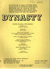 JOAN COLLINS - Original Vintage DYNASTY Script  'The Bracelet', 1987[C#33]