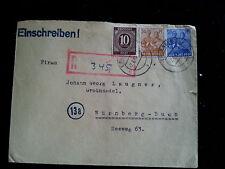 Alliierte Besetzung - Deutsche Post - R Brief Erlangen nach Nürnberg 07.06.1948