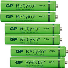 6 cordless phone AAA batteries rechargeable 59h Dect