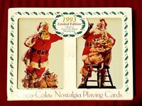 New Coca-Cola Limited Edition 1993 Nostalgia Santa Playing Cards In a Tin