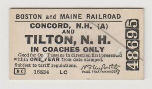 BOSTON  &  MAINE        Concord  and  Tilton    1939