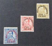 nystamps Albania Stamp # 221-223 Mint OG H $35 Signed