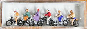 Preiser HO #10091 Recreation & Sports -- Bike Riders w/Bicycles (1:87th Scale)