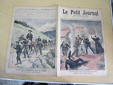 Le petit journal 1897 n° 353 Assassinat M. Canovas Félix Faure dans les alpes