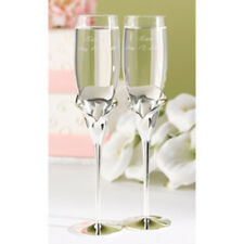 Hortense B Hewitt Calla Lily Flutes 11191 Glassware NEW