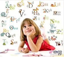 26 Animals Alphabet Removable Educational Wall Stickers Kids Nursery Vinyl Decal