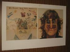 """THE BEATLES - YOKO ONO SIGNED """"JOHN LENNON - WALLS AND BRIDGES LITHOGRAPH"""""""