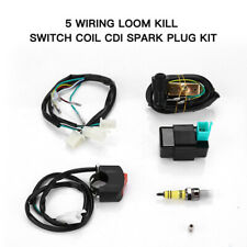 Wiring Loom CDI Kill Switch Coil Spark Plug For 110 125 140CC Quad Pit Dirt Bike