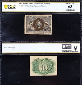 Amazing CHOICE UNC 2nd issue 10 cent Fractional Currency Note PCGS 63! FREE SHIP