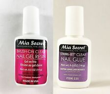 Mia Secret Strong-Jet Clear Nail Glue 14g + Brush-on Clear Nail Gel Resin 14g