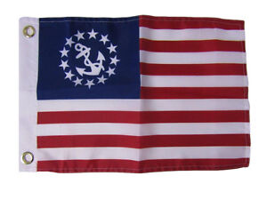 12x18 Nautical Boat Flag Yacht Ensign Premium FAST USA SHIP