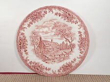 Churchill China England The Brook Pink Dinner Plate 10""