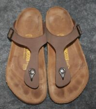Birkenstock Gizeh Mocha Birko-Flor Sandals Size 39