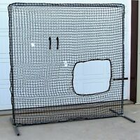 Softball Safety Screen 7' x 7' Residential Galv Frame w/ Heavy Duty 60ply Net