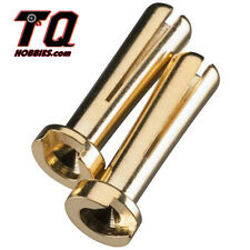DuraTrax DTXC2306 Gold Plated 4mm Bullet Connector Male Lipo Battery Plugs Trac#