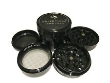"SharpStone 2.2"" Inch Version 2.0 Hard Top Herb Spice Medium Black Grinder EXTRAS"