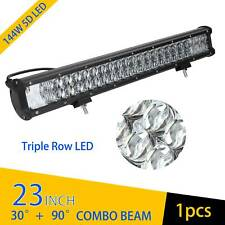 23 Inch 5D 144W LED Work Light Bar Flood Spot Combo Offroad Truck SUV Boat Lamp
